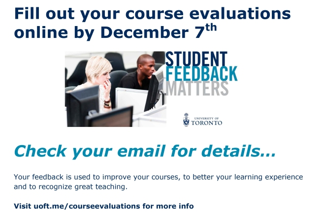 Fill out your course evaluations